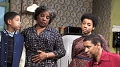 A Raisin in the Sun - Show Photos - PS - 3/14 - David Cromer - Bryce Clyde Jenkins - LaTanya Richardson Jackson - Denzel Washington - Sophie Okonedo