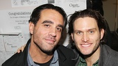 Broadway buddies Bobby Cannavale and Steven Pasquale catch up backstage.