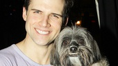 Kyle Dean Massey strikes a pose with new Pippin pup Barnum!