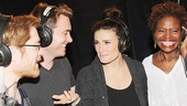 If/Then stars Anthony Rapp, James Snyder, Idina Menzel and LaChanze chat between takes.