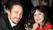 James Franco with New Girl star Zooey Deschanel.