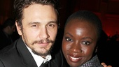 The Walking Dead's Danai Gurira cheers on James Franco.