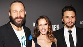 Of Mice and Men headliners Chris O'Dowd, Leighton Meester and James Franco.