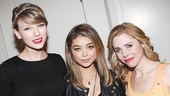 Taylor Swift and Sarah Hyland strike a pose with Under My Skin star Kerry Butler (Melody Dent).