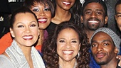 The cast of After Midnight takes a group shot with Debbie Allen. See the jazzy revue at the Brooks Atkinson Theatre!