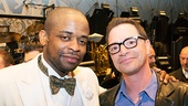 Dule Hill hangs out with his pal, Scandal star Joshua Malina after the show.