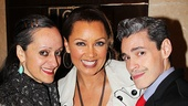 After Midnight costume designer Isabel Toledo and her husband Ruben flank Vanessa Williams.