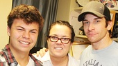 Rosie O'Donnell and her son Blake meet with Rocky headliner Andy Karl (Rocky Balboa).