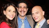 Violet star Sutton Foster and Fun Home alum Michael Cerveris flank New York Drama Critics' Circle president Adam Feldman.
