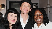 Hedwig's Lena Hall and Neil Patrick Harris with Whoopi Goldberg.