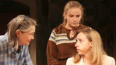 Cherry Jones as Agnes, Morgan Saylor as Penny & Zoe Kazan as Mary Anne in When We Were Young and Unafraid.