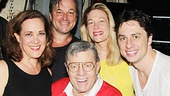 Jerry Lewis with Bullets stars Nick Cordero (Cheech), Karen Ziemba (Eden Brent), Jim Borstelmann (ensemble), Marin Mazzie (Helen Sinclair), Zach Braff and Vincent Pastore (Nick Valenti).