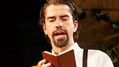 Steel Burkhardt as Balthasar and Hamish Linklater as Benedick in Much Ado About Nothing