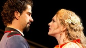 Hamish Linklater as Benedick & Lily Rabe as Beatrice in Much Ado About Nothing