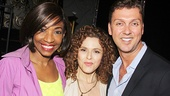 After Midnight star Adriane Lenox and director/choreographer Warren Carlyle with Bernadette Peters.