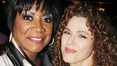 After Midnight special guest star Patti LaBelle welcomes Bernadette Peters backstage.