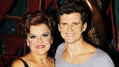 Priscilla Lopez takes a parting shot with her onstage grandson Kyle Dean Massey. Catch the high-flying cast of Pippin at the Music Box Theatre!