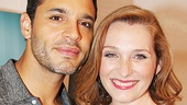 Daniel Sunjata and Kate Jennings Grant of The Country House flash smiles on press day.