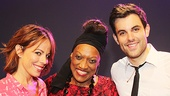 Jessye Norman greets Piece of My Heart stars Zak Resnick and Leslie Kritzer.
