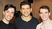 On the Town stars Clyde Alves, Tony Yazbeck and Jay Armstrong Johnson.