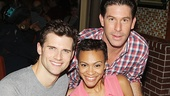 Pippin co-stars Kyle Dean Massey and Carly Hughes and Jersey Boys player Richard H. Blake.