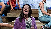 Barrett Wilbert Weed as Denise and the cast of Found