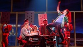 Tony Danza as Tommy Korman & Rob McClure as Jack Singer and the Company of Honeymoon in Vegas