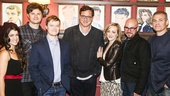 Hand to God - Bob Saget - 10/15 - Sarah Stiles, Michael Oberholtzer, Steven Boyer, Bob Saget, Geneva Carr, playwright Robert Askins and Marc Kudisch