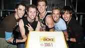Photo Op - Altar Boyz 1000th Performance - Ryan Strand - Matthew Buckner - Landon Beard - Ryan Ratliff - Jay Garcia