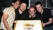 Photo Op - Altar Boyz 1000th Performance - Christopher Gattelli - Stafford Arima - Gary Adler - Michael Patrick Walker