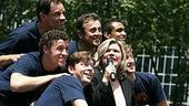 Photo Op - Broadway in Bryant Park 07-26-07 - Debra Monk and the boys (singing)