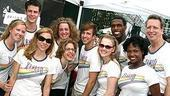 Photo Op - Broadway in Bryant Park 07-26-07 - Xanadu cast backstage