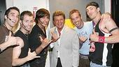 Photo Op - Frankie Avalon at Altar Boyz - Ryan Strand - Matthew Buckner - Jay Garcia - Frankie Avalon - Ryan J Ratliff - Landon Beard -2