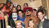 Photo Op - It's Always Sunny in Philadelphia at Avenue Q - cast with Charlie Day - Mary Elizabeth Ellis - Glenn Howerton