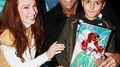 Photo Op - Cameron Mathison at Little Mermaid - Sierra Boggess - Cameron Mathison - (son) Lucas