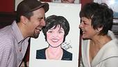 Priscilla Lopez Caricature at Sardi's - Priscilla Lopez - Lin-Manuel Miranda (laughing)