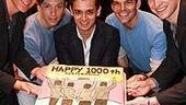 Jersey Boys Official 1000 Perfs - Christian Hoff - Cory Grant - Michael Longoria - J. Robert Spencer - Sebastian Arcelus