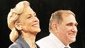 Onstage couple Judith Light and Dan Lauria step out hand in hand at curtain call.