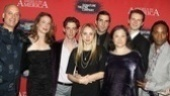 All hail the cast of Angels in America! Frank Wood, Robin Weigert, Christian Borle, Zoe Kazan, Zachary Quinto, Robin Bartlett, Bill Heck and Billy Porter make their entrance at the epic play's opening night party.