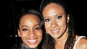 Looking gorgeous, Broadway ladies Anika Noni Rose and Tracie Thoms cheer on The Scottsboro Boys.