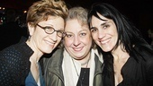 It's a Well reunion! Lisa Kron and director Leigh Silverman (r.) get cheek to cheek with Kron's Tony-nominated co-star, Jayne Houdyshell.