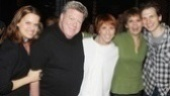 Amy Spanger, George Wendt, Beth Leavel and Sebastian Arcelus sandwich Gypsy Robe recipient Lisa Gajda. 