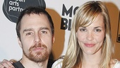 Iron Man 2 co-stars Sam Rockwell and Leslie Bibb canoodle after their day on Broadway!