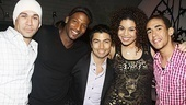 Bye, bye, boys! Raising the roof with In the Heights one last time, Michael Balderrama, Clifton Oliver, Shaun Taylor-Corbett, Jordin Sparks and Kyle Beltran get together for a good bye close-up.