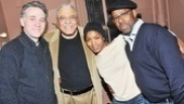 Daisy star Boyd Gaines steps in for a shot with castmate James Earl Jones and celebrity guest couple Angela Bassett and Courtney B. Vance.