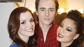 Jennifer Damiano and T.V. Carpio get caught in Reeve Carney's web as they prepare for their performance.