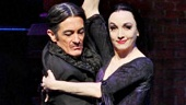 Roger Rees as Gomez and Bebe Neuwirth as Morticia in The Addams Family.