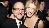 Lonny Price and actress Jenn Colella say hello to the cameras inside Bengal Tiger's party.