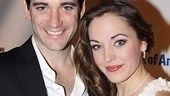Love is in the air for Anything Goes' Billy Crocker and Hope Harcourt, played by Colin Donnell and Laura Osnes.