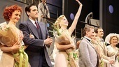 The cast of Anything Goes soaks in their well-earned opening night applause.